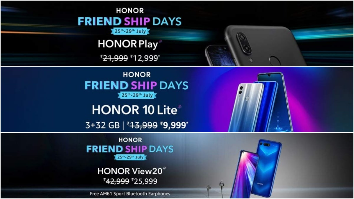 Honor Friendship Days Sale: Honor View 20, Honor 10 Lite, Honor Play, More Discounted on Amazon