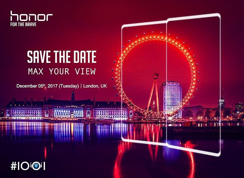 Honor V10 स्मार्टफोन 5 दिसंबर को होगा लॉन्च, इसमें हो सकते हैं दो रियर कैमरे व 6 जीबी रैम