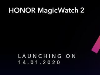 Honor Magic Watch 2 Smartwatch, Honor Band 5i Set to Launch in India on January 14