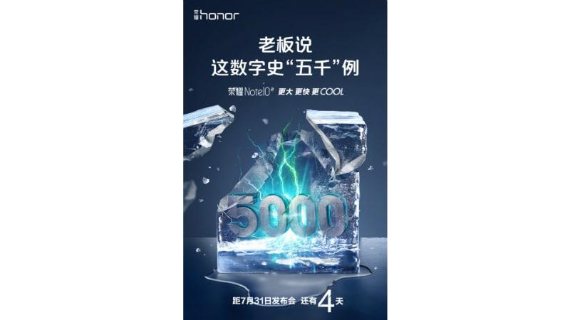 honor note 10 battery teaser weibo Honor Note 10 battery teaser