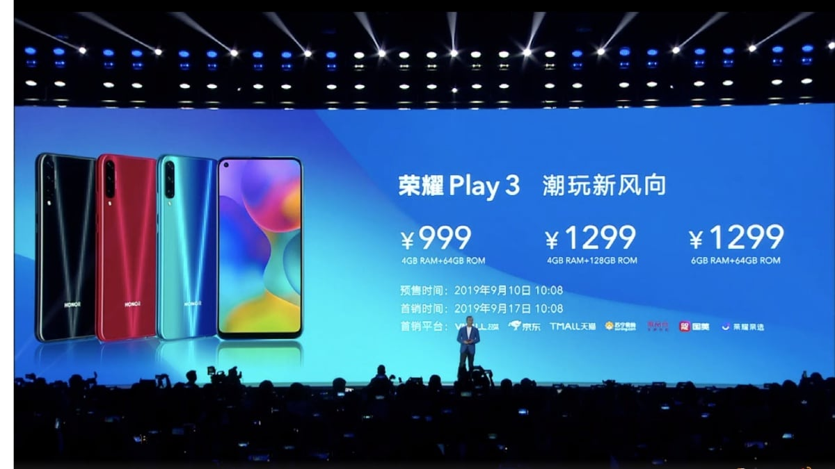 Honor 20s, Honor Play 3 With Triple Rear Cameras, Hole-Punch
