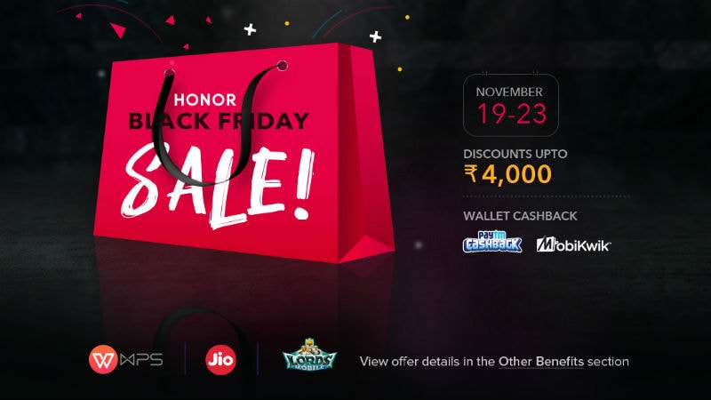 Honor 9N, Honor 7S, Honor Play, Honor 9 Lite, and More Get Discounts, Offers During Black Friday Sale