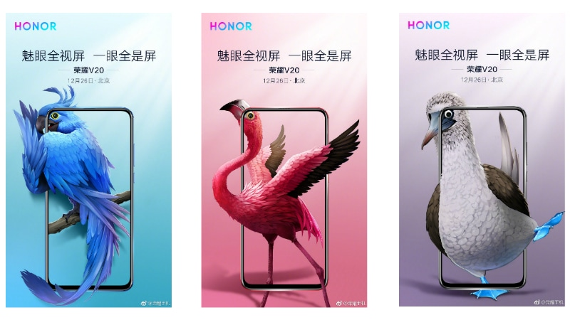 Honor V20 aka View 20 Retail Box Spotted in the Live Images, New Teasers Confirm Colour Variants
