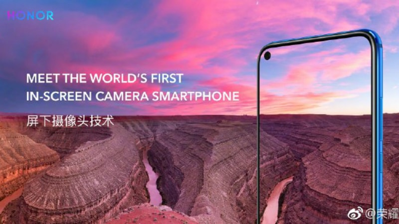 Honor V20 With Display Hole for Front Camera, 48-Megapixel Rear Camera Unveiled