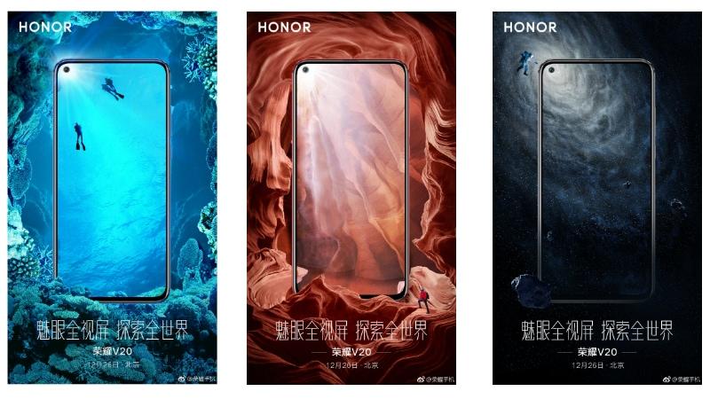 Honor V20 Teaser Images Show Off Front Design Ahead of December 26 Launch