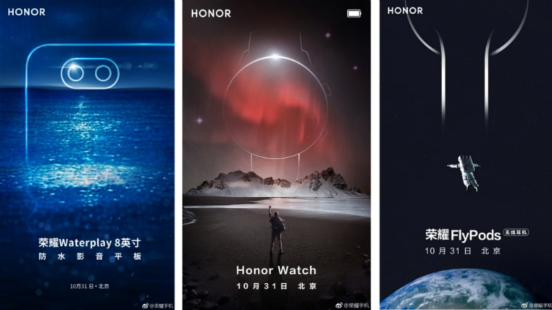 Honor Magic 2 AnTuTu Listing Leaked; Honor Watch, FlyPods, Waterplay 8 Tablet Teased for October 31 Launch