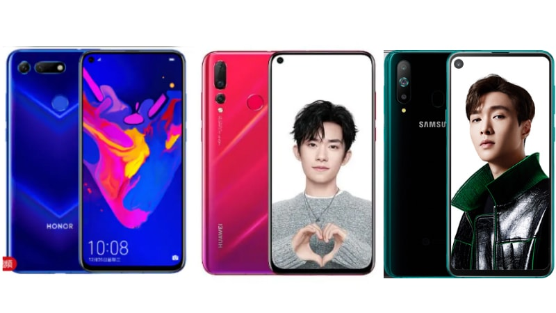 Honor V20 (Honor View 20) vs Samsung Galaxy A8s vs Huawei Nova 4: Price, Specifications Compared