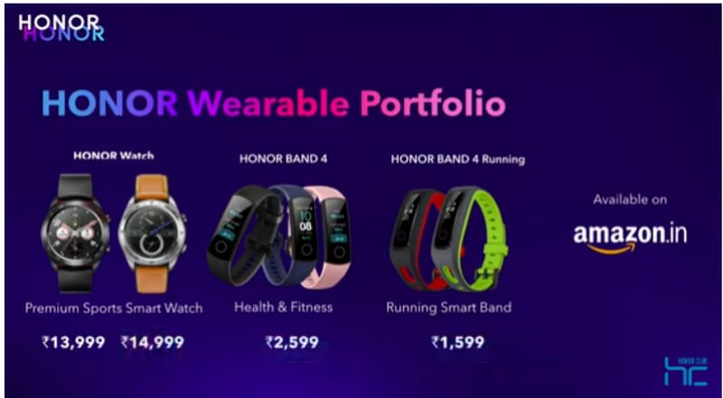Honor Watch Magic and Honor Band 4 Running Edition launched in India