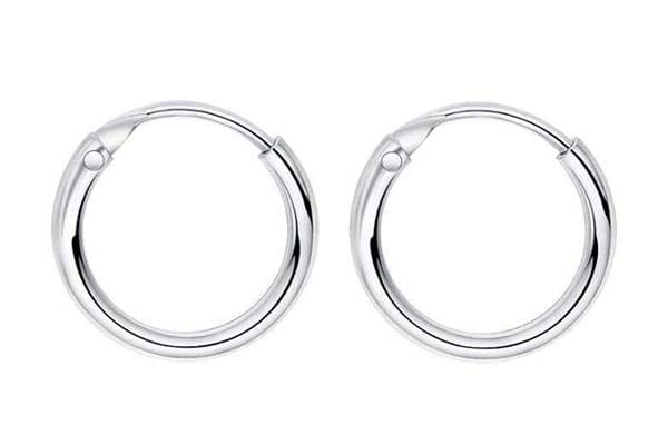 Hoop Earrings in India 2019 - Thick Silver Hoop Earrings