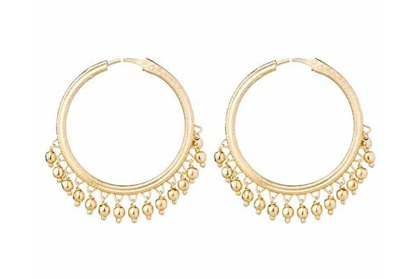 Hoop Earrings in India 2019 - Shining Jewel Brass Traditional Gold Bali Earrings