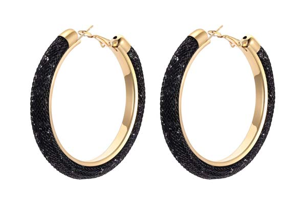 Hoop Earrings in India 2019 - Yellow Chimes Exclusive Crystal-Filled Stylish Fashion Hoops