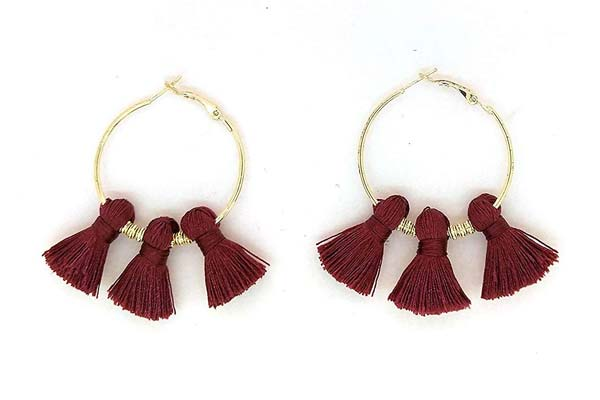 Hoop Earrings in India 2019 - Gempro Happy Hoops Earring