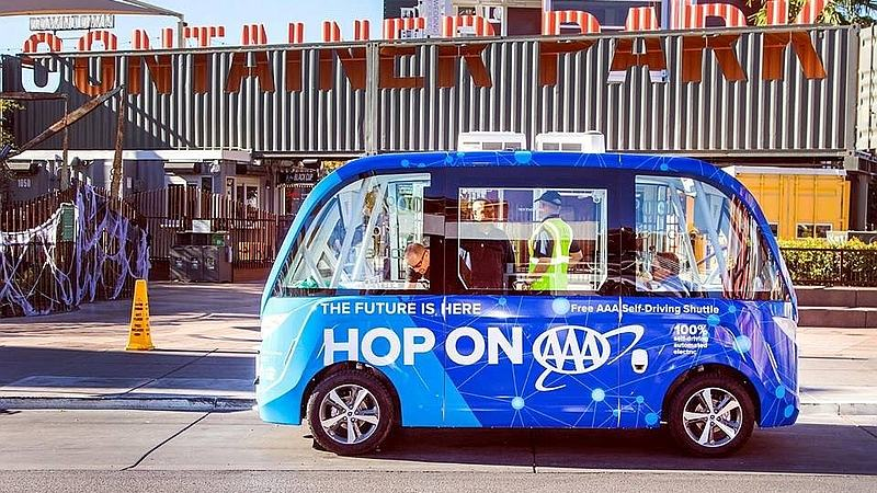 Self-Driving Shuttle Collision Mars Las Vegas Debut