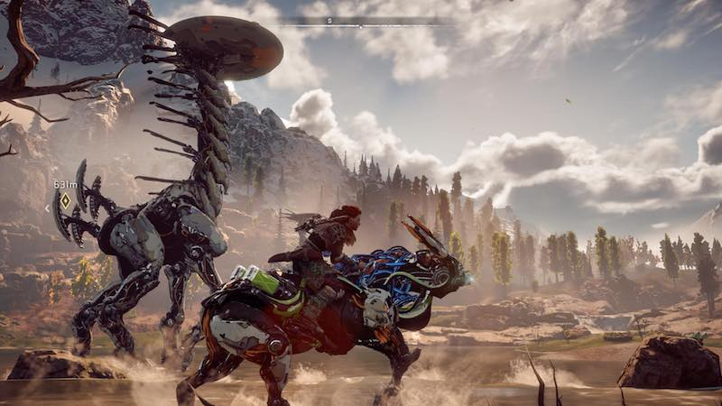 horizon zero dawn aloy riding horizon_zero_dawn
