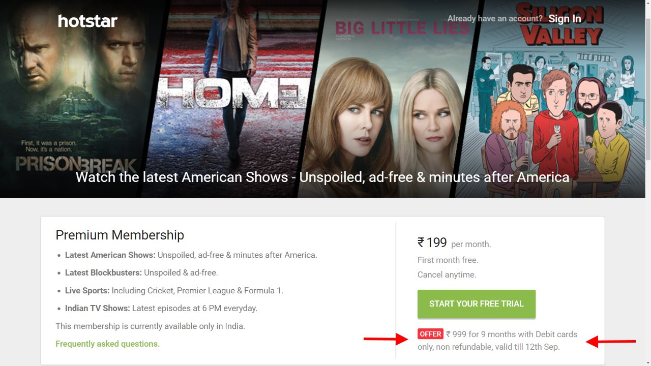 Hotstar Now Offering Annual Plan at Rs. 1,200, 9 Months at Rs. 999
