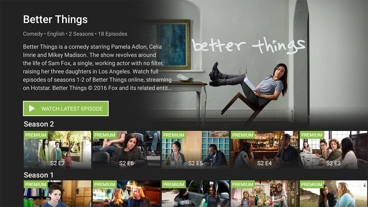 hotstar android tv better things Hotstar Android TV