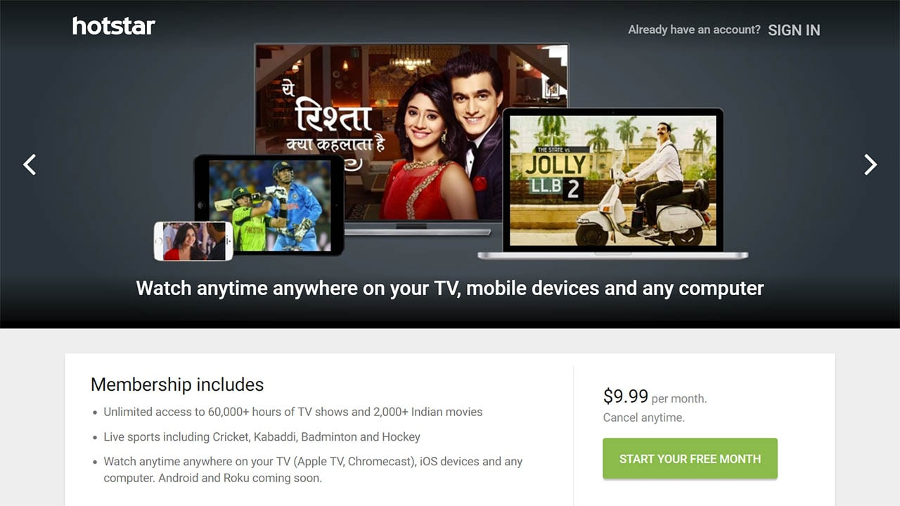 Hotstar Launches Its Premium Service in US and Canada | Technology News