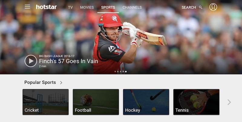 hotstar desktop featured score