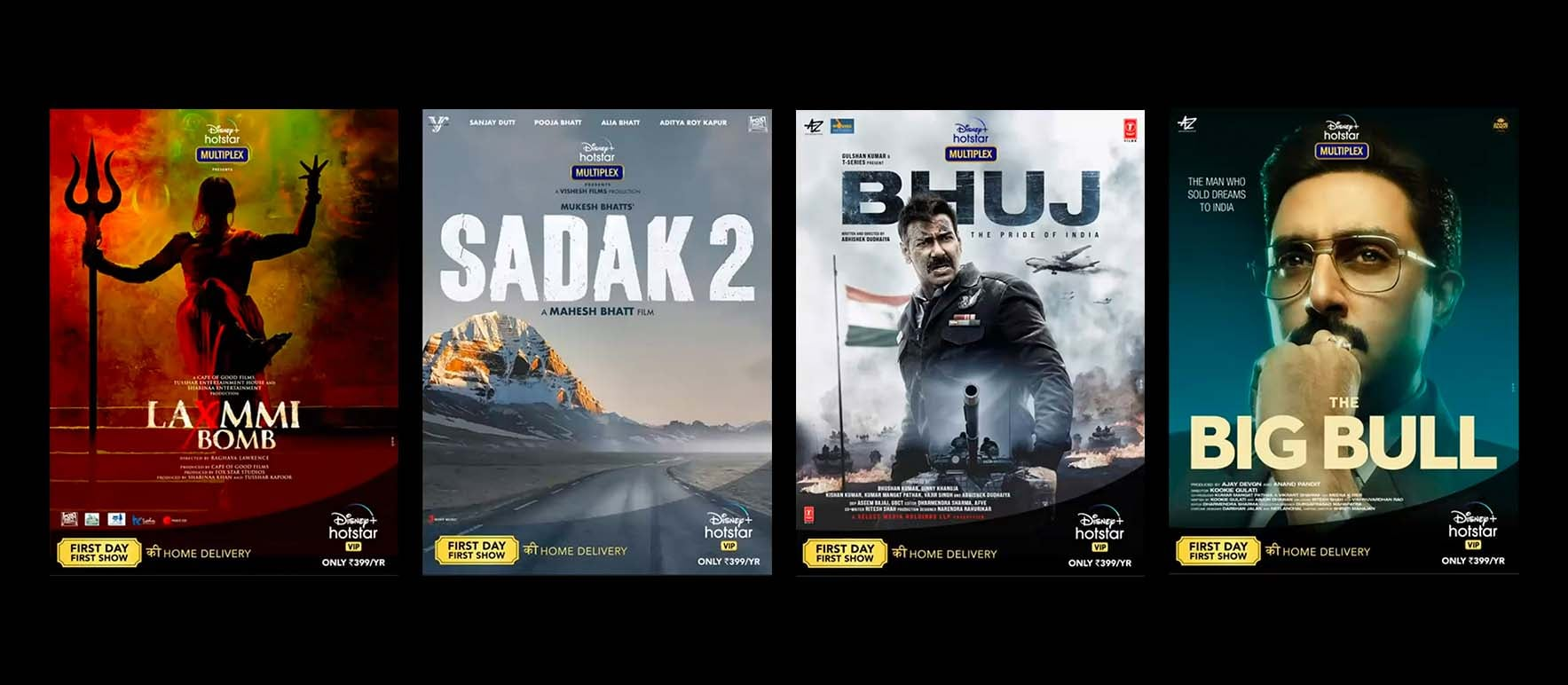 Bhuj, Laxmmi Bomb, Sadak 2, Three Other Bollywood Movies Head to Disney+ Hotstar