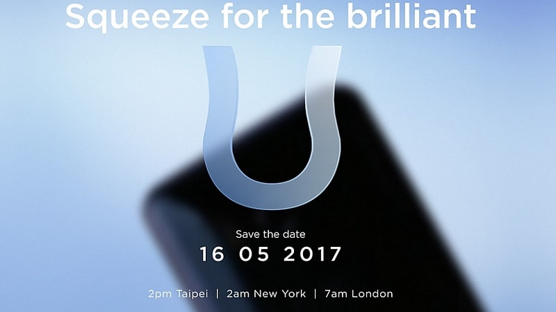 HTC U 11 With 'Edge Sensor' Expected to Launch Today