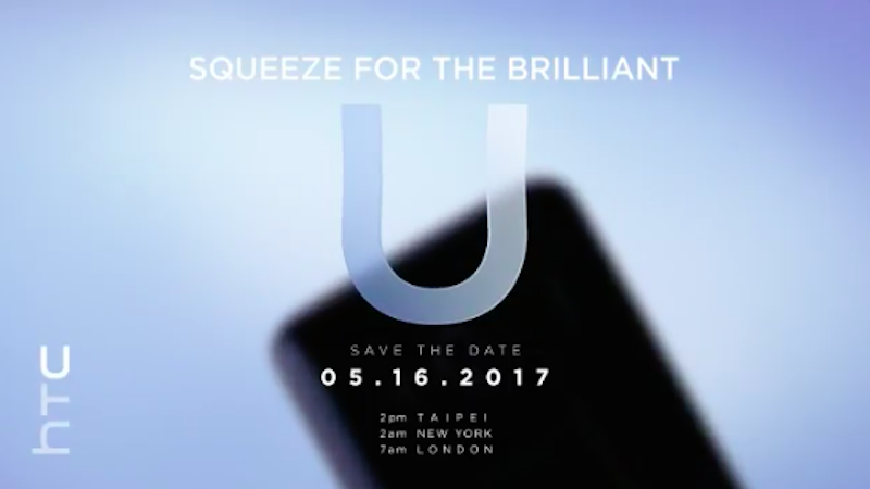 HTC U 'Squeezable Phone' Set to Launch on May 16