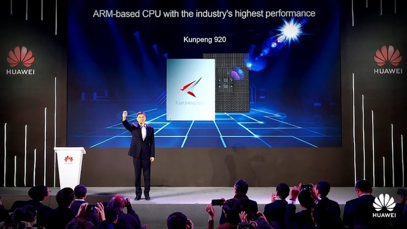 Huawei unveils ARM-based CPU for server market