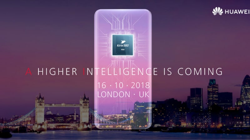 Huawei Mate 20 Series Teaser Invite Confirms Kirin 980 SoC, AI Features