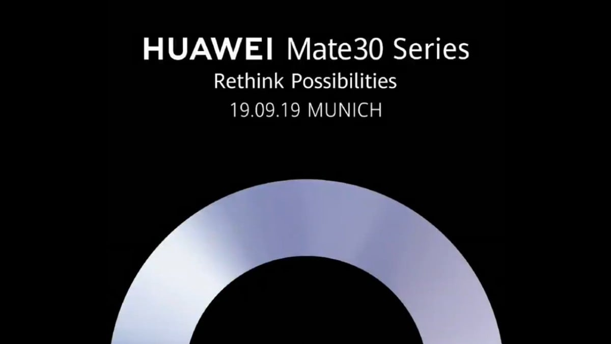 Huawei Mate 30 Series Launch Set for September 19 at Munich Event