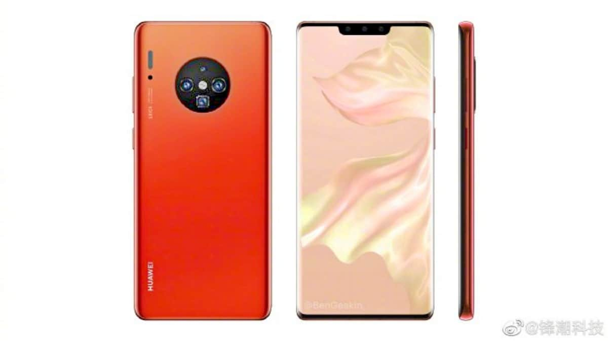 huawei mate30pro render weibo Huawei Mate 30 Pro