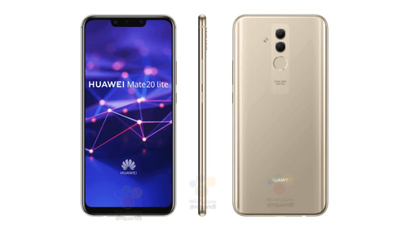 Black & Gold Huawei Mate 20 Lite Renders Surface Online