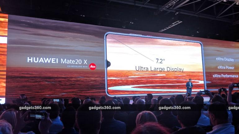 Huawei Mate 20 X लॉन्च, 7.2 इंच ओलेड डिस्प्ले है इसमें