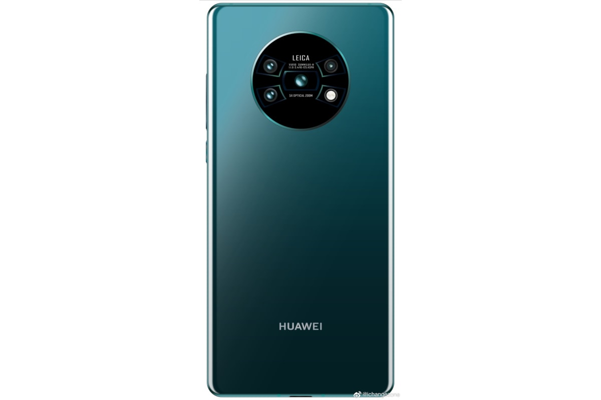 Huawei Mate 30 Pro Alleged Render Shows Circular Camera Setup With 5x Optical Zoom Support