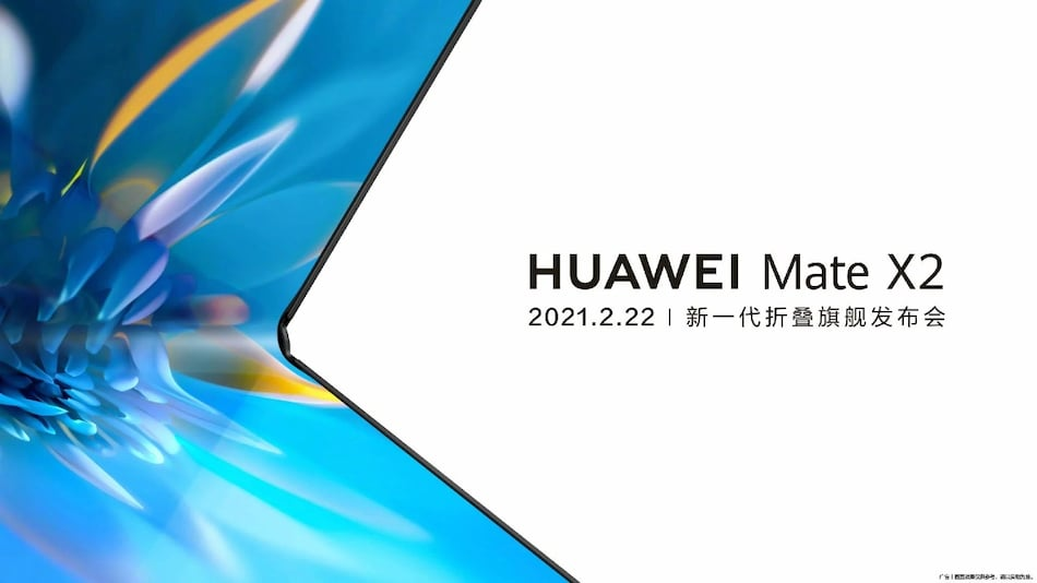 Huawei Mate X2 Launch Date Set for February 22, Company Reveals