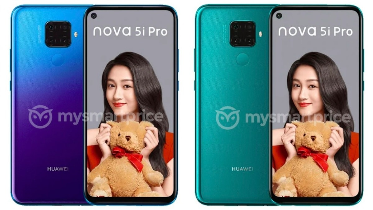Huawei Nova 5i Pro Appears in Leaked Official Renders and Hands-On Video, Quad Rear Cameras Detailed