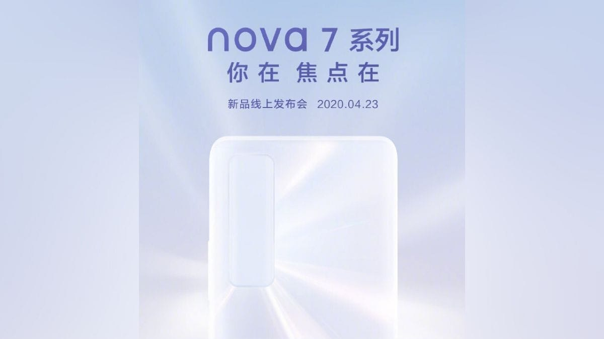 Huawei Nova 7 Series Launching on April 23, 50x Zoom Support Tipped