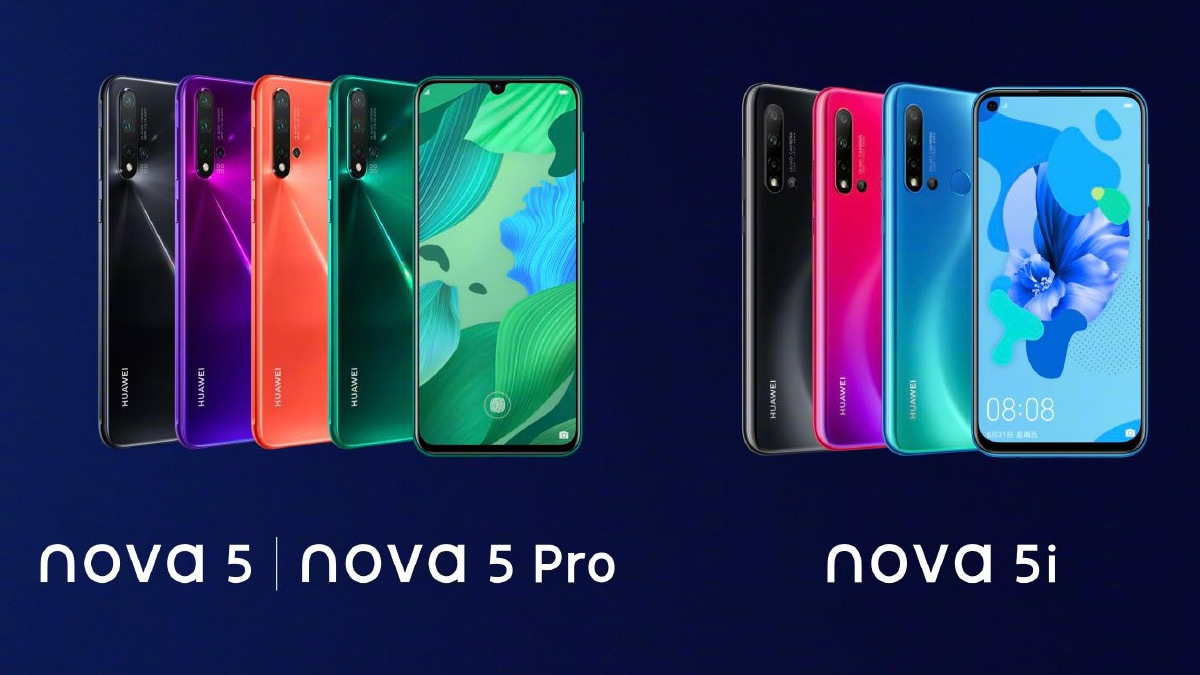 Huawei Nova 5, Nova 5 Pro, Nova 5i With Quad Rear Camera Setups, Up to 8GB of RAM Launched: Price, Specifications