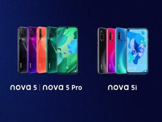 Huawei Nova 5, Nova 5 Pro और Nova 5i लॉन्च, चार रियर कैमरों से हैं लैस