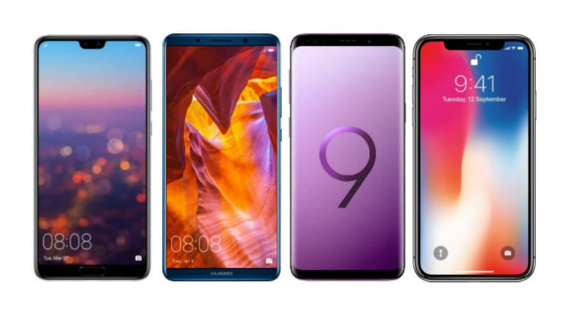 Huawei P20 vs Mate 10 Pro vs Samsung Galaxy S9 vs iPhone X