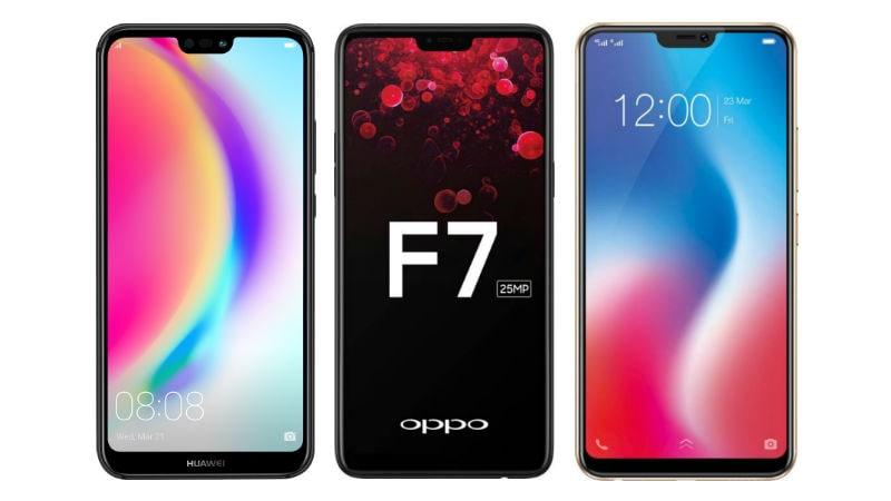 Huawei P20 Lite vs Oppo F7 vs Vivo V9: Price in India, Specifications Compared