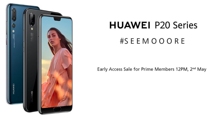Huawei P20 Pro, P20 Lite Early Access Sale for Amazon Prime Members Set for Today