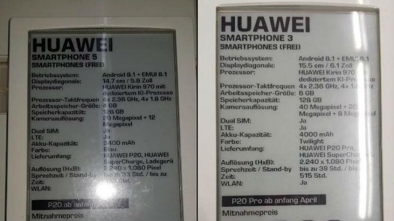 huawei p20 specs gizchina Huawei P20  Huawei P20 pro