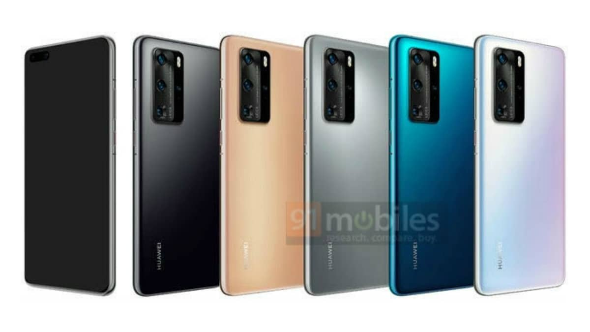 Huawei P40 Pro, Huawei P40 Pro Premium Edition Renders Leaked, Colour Options Tipped