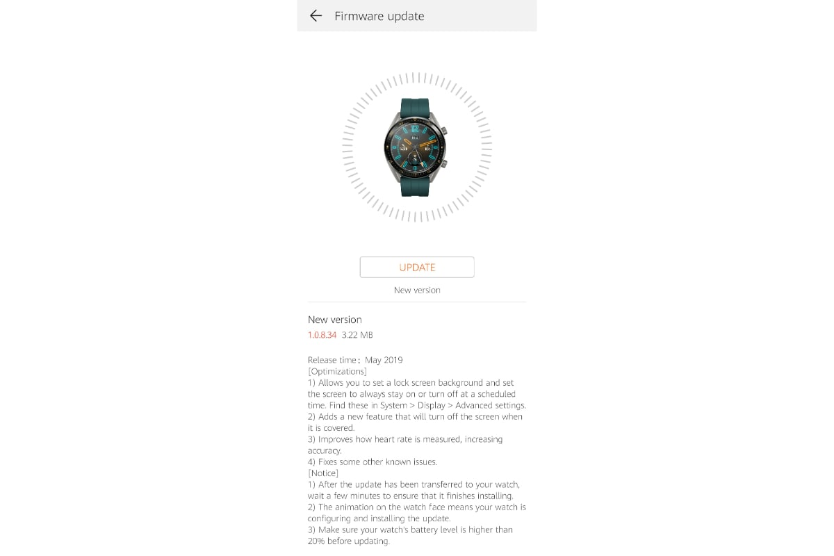 huawei watch gt update always on display reddit dharmsp Huawei Watch GT