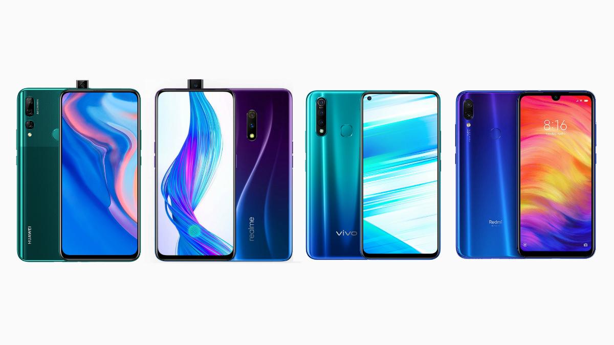 Huawei Y9 Prime 2019 vs Realme X vs Vivo Z1 Pro vs Redmi