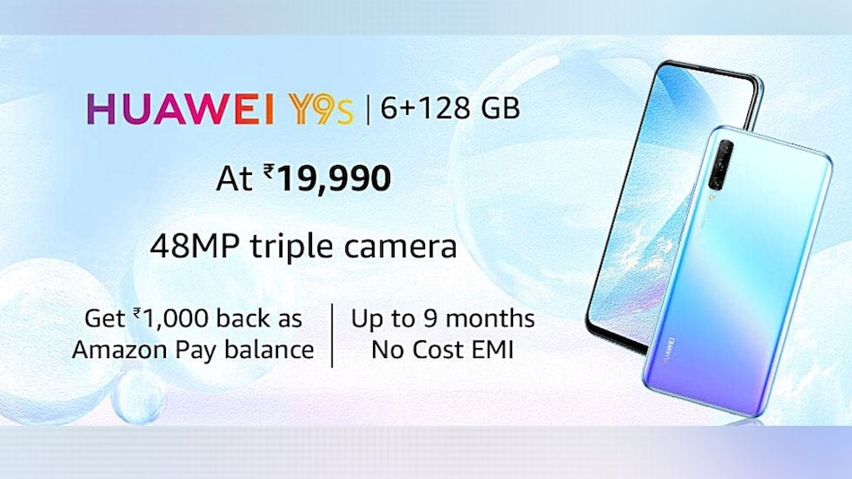 Huawei Y9s Goes on Sale in India via Amazon: Price in India, Offers, Specifications