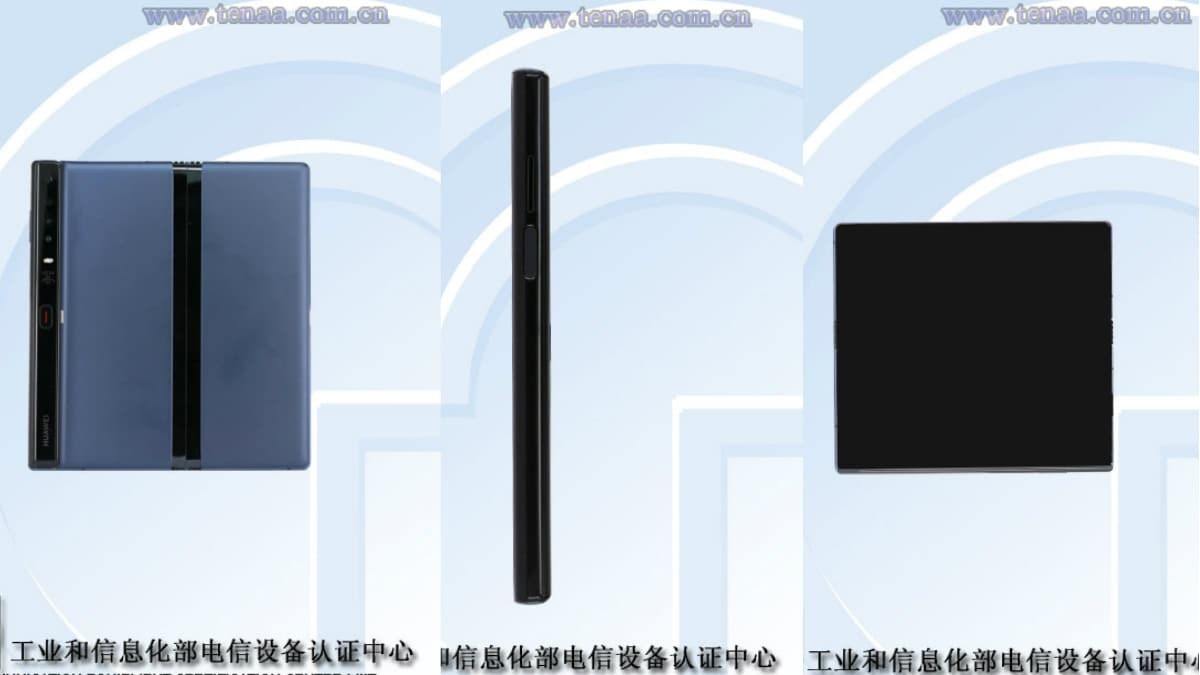 Huawei Mate X TENAA Listing Updated With Images, Reveals Minor Design Change