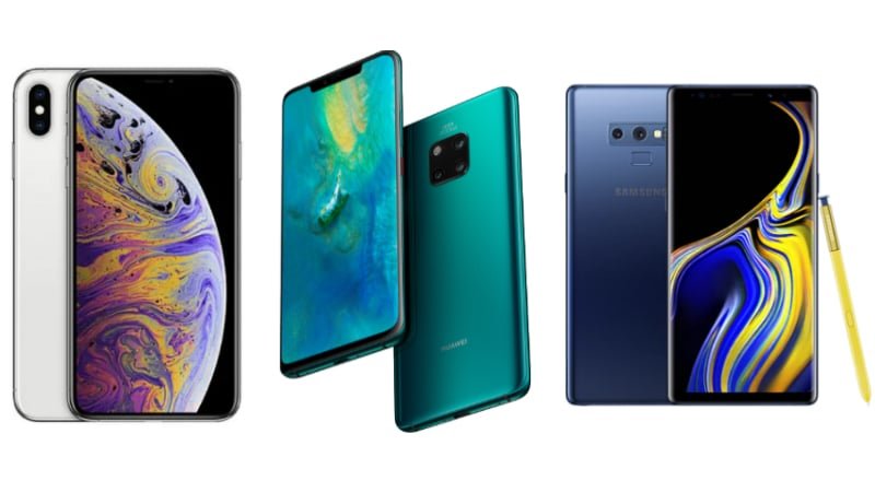Huawei Mate 20 Pro vs iPhone Xs Max vs Samsung Galaxy Note 9: Price, Specifications Compared