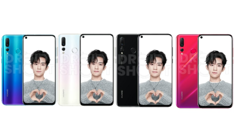 Huawei Nova 4 Renders Leak, Tipping Design and 4 Colour Options
