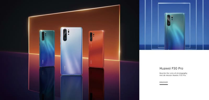 Huawei P30 Pro, Huawei P30 Briefly Spotted on Official Website, Pre-Order Offers Revealed