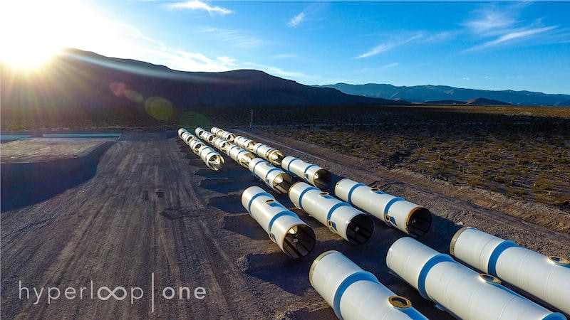hyperloop one sun flare Hyperloop One